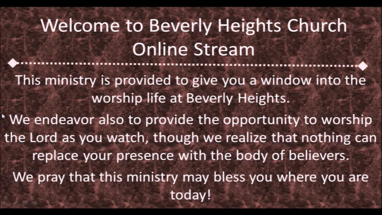 February 25 Beverly Heights Together