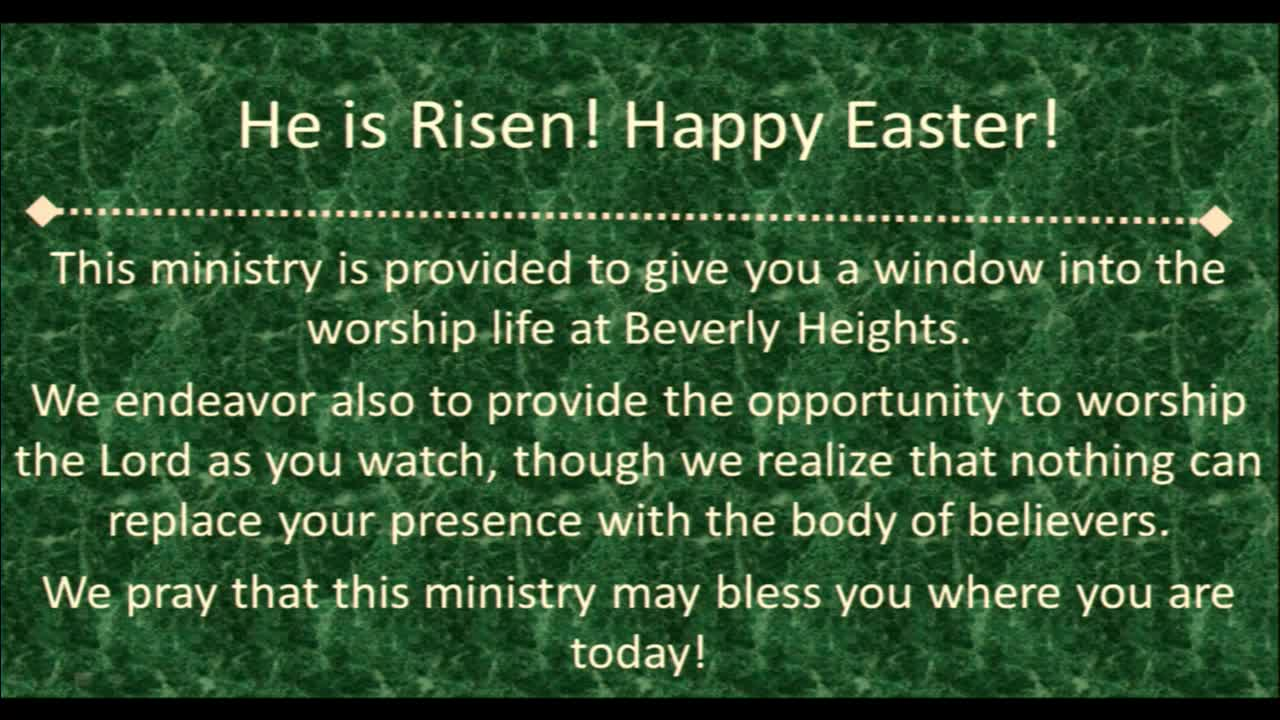 April 1 New Worship Easter Service