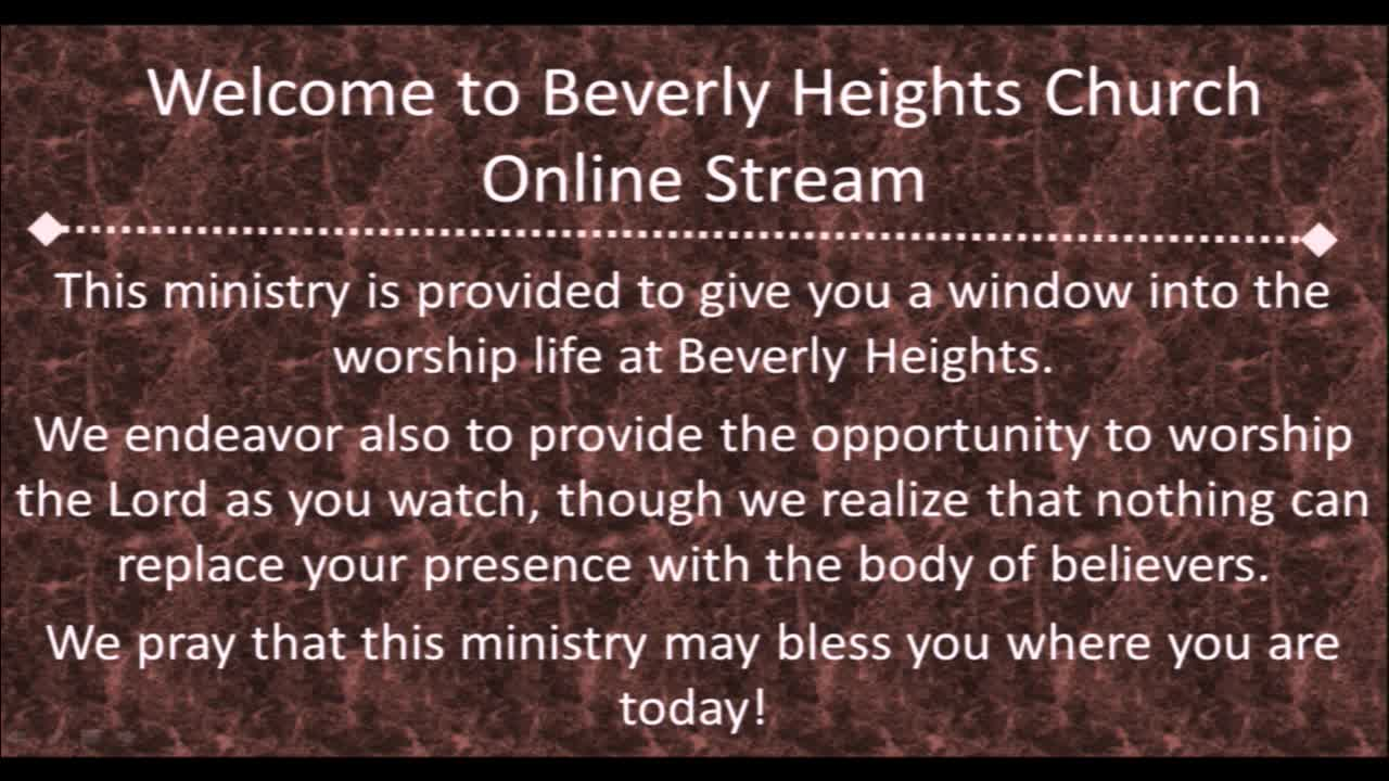 May 6 Beverly Heights Together