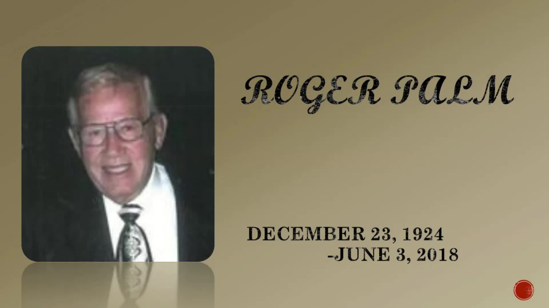 Roger Palm Memorial Service
