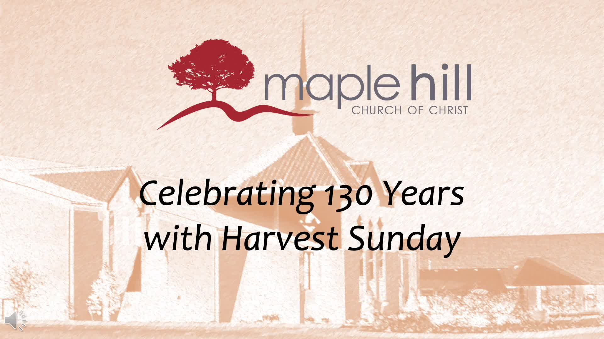 Harvest Sunday Presentation