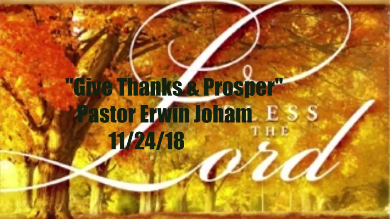 Give Thanks & Prosper11/24/2018