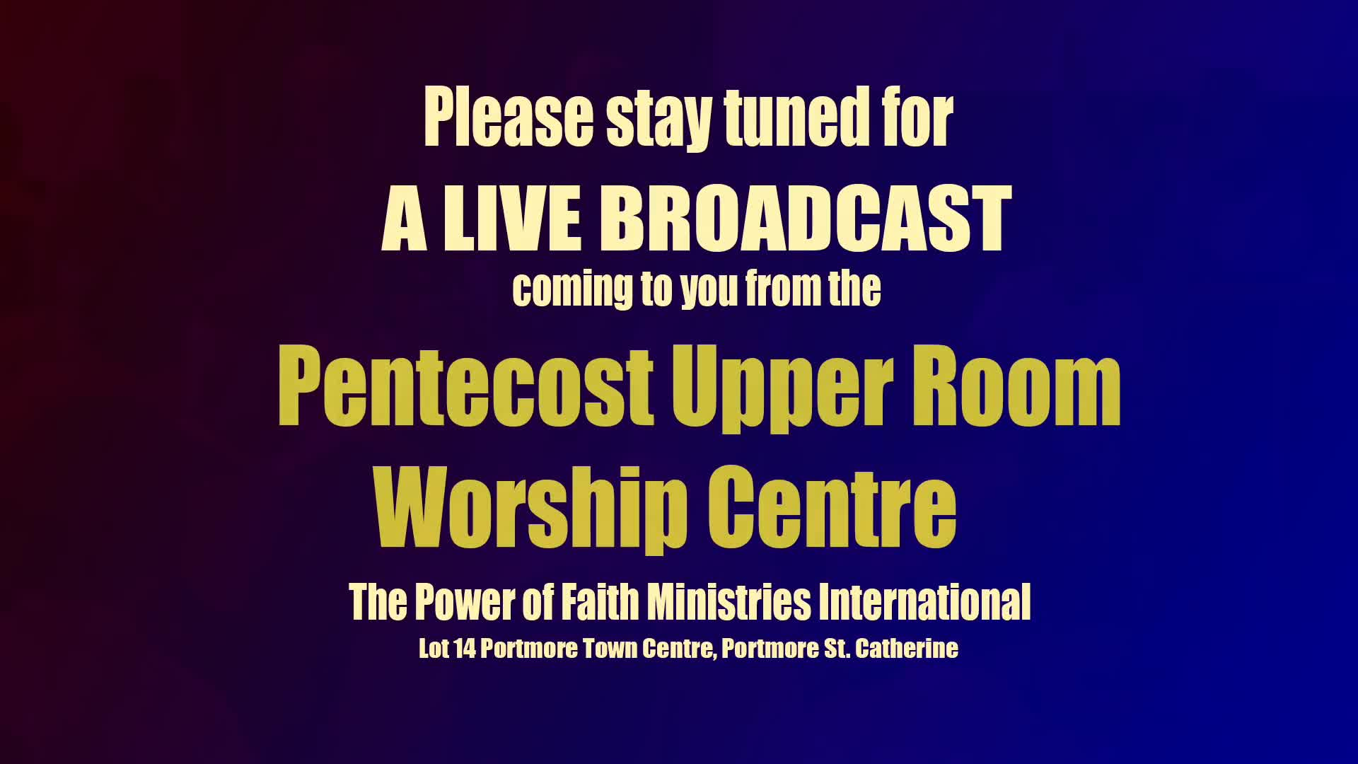 Pentecost Upper Room Worship Centre  52619