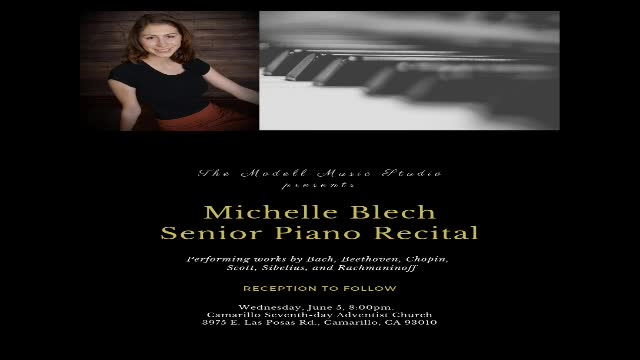Piano Recital  6/5/2019