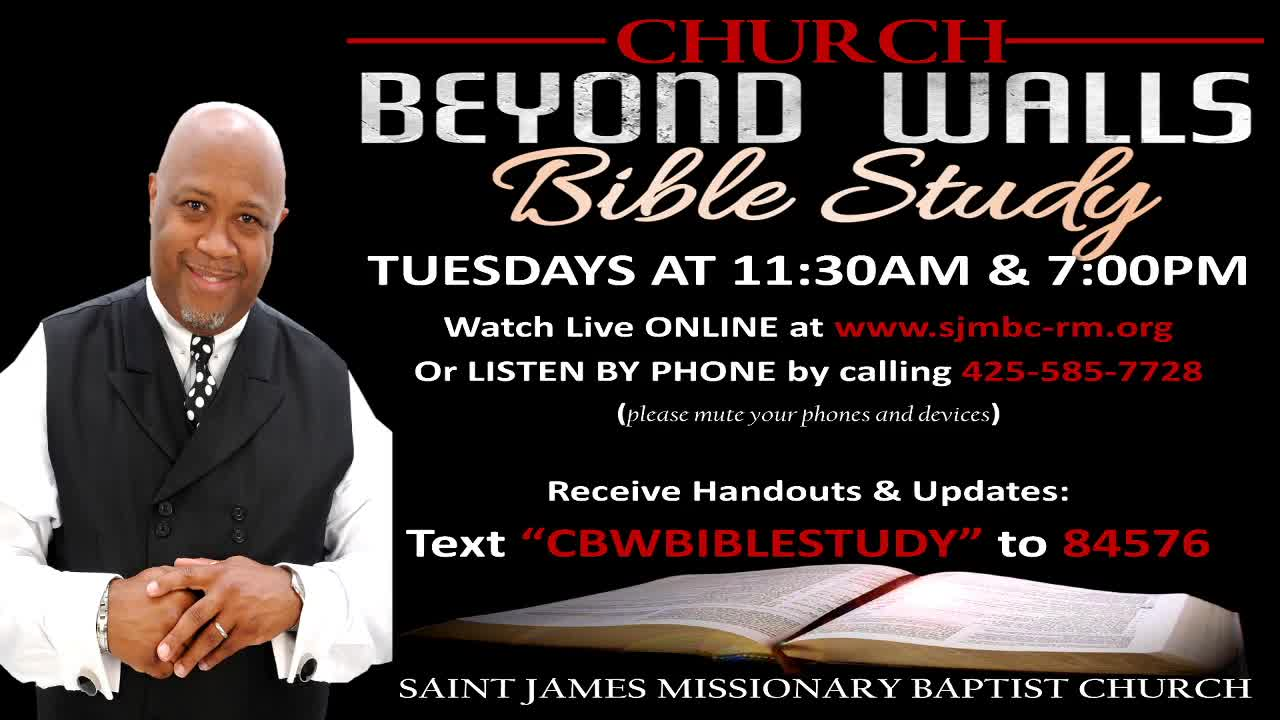 CBW Bible Study  May 19 EVENING