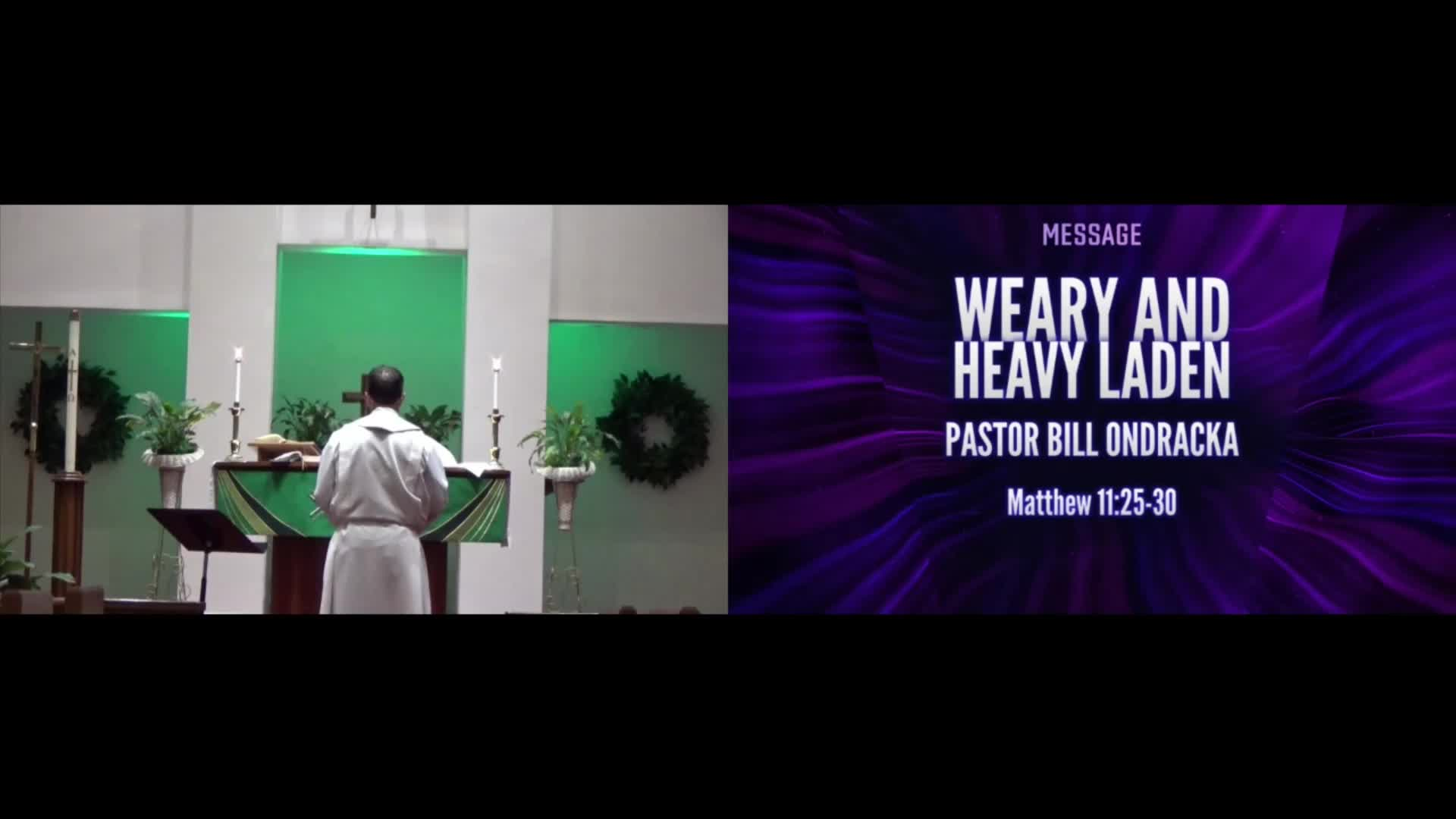 Weary and Heavy Laden