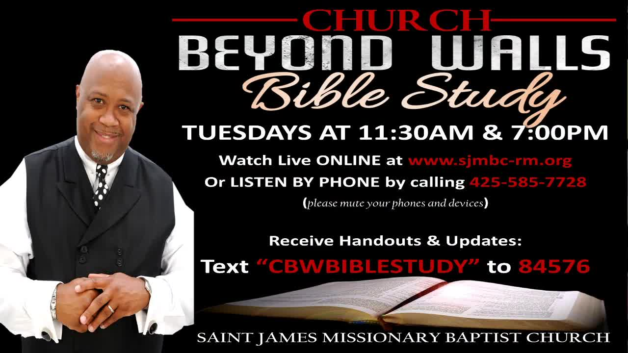 CBW Bible Study  September 1 2020