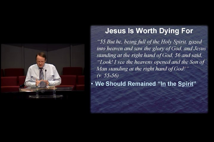 Sept 07 - PM - Jesus Is Worth Dying For