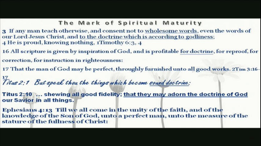 The Mark of Spiritual Maturity Eph 414a