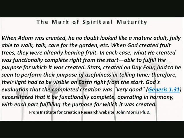 The Mark of Spiritual Maturity part 3