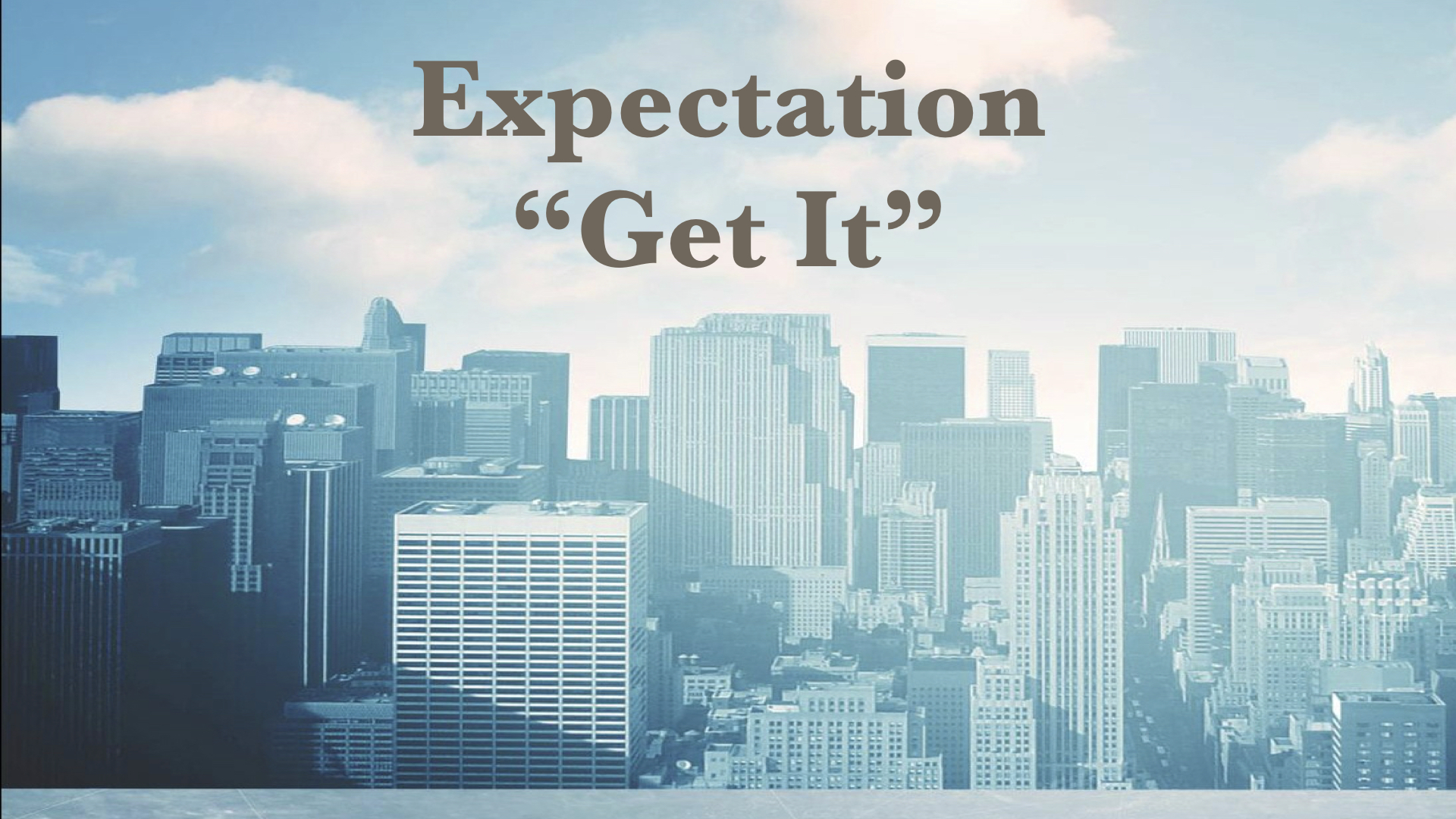 Expectation Get It1619