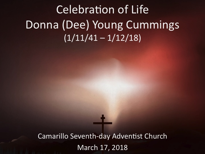 Dee Cummings Memorial Service