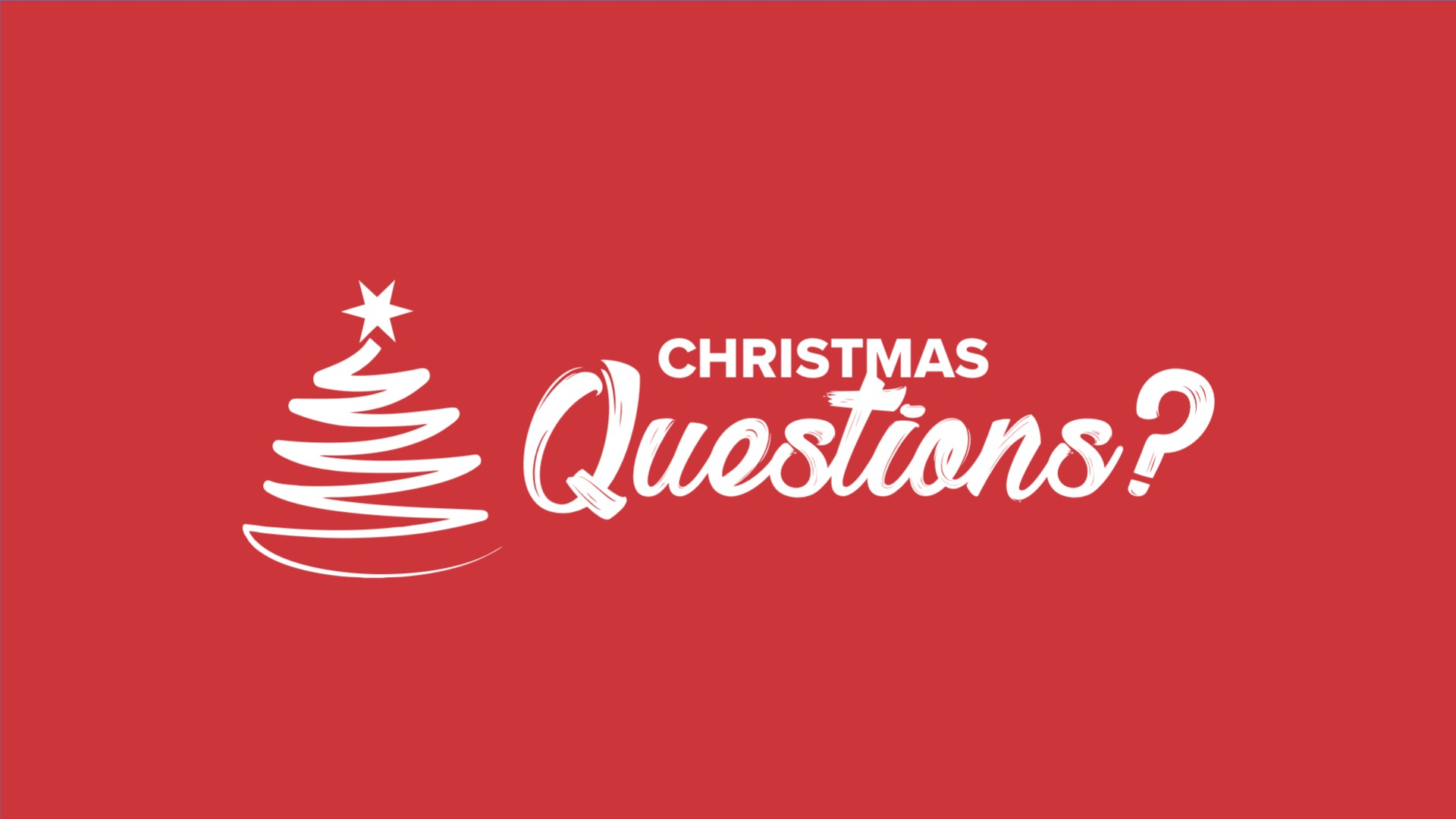 CHRISTMAS QUESTIONS Are You Ready