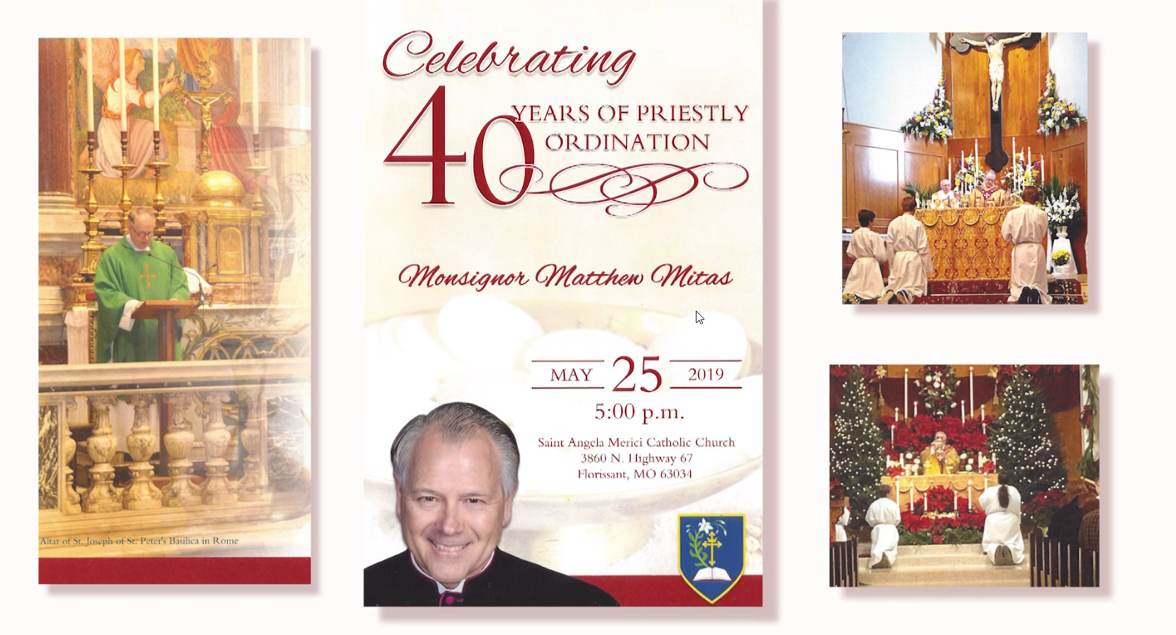 Celebrating 40 Years of Priestly Ordination