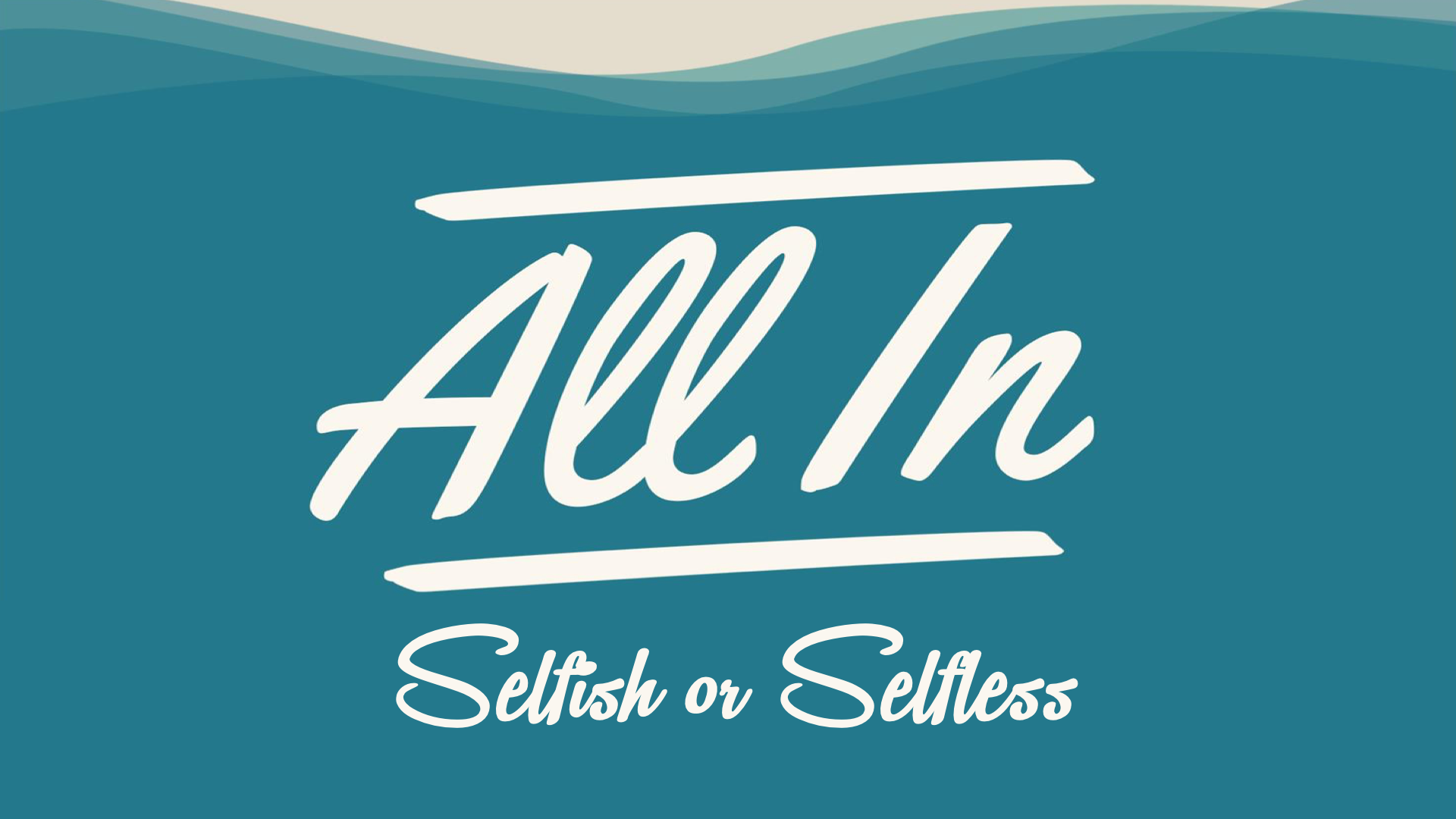 All In Selfish or Selfless