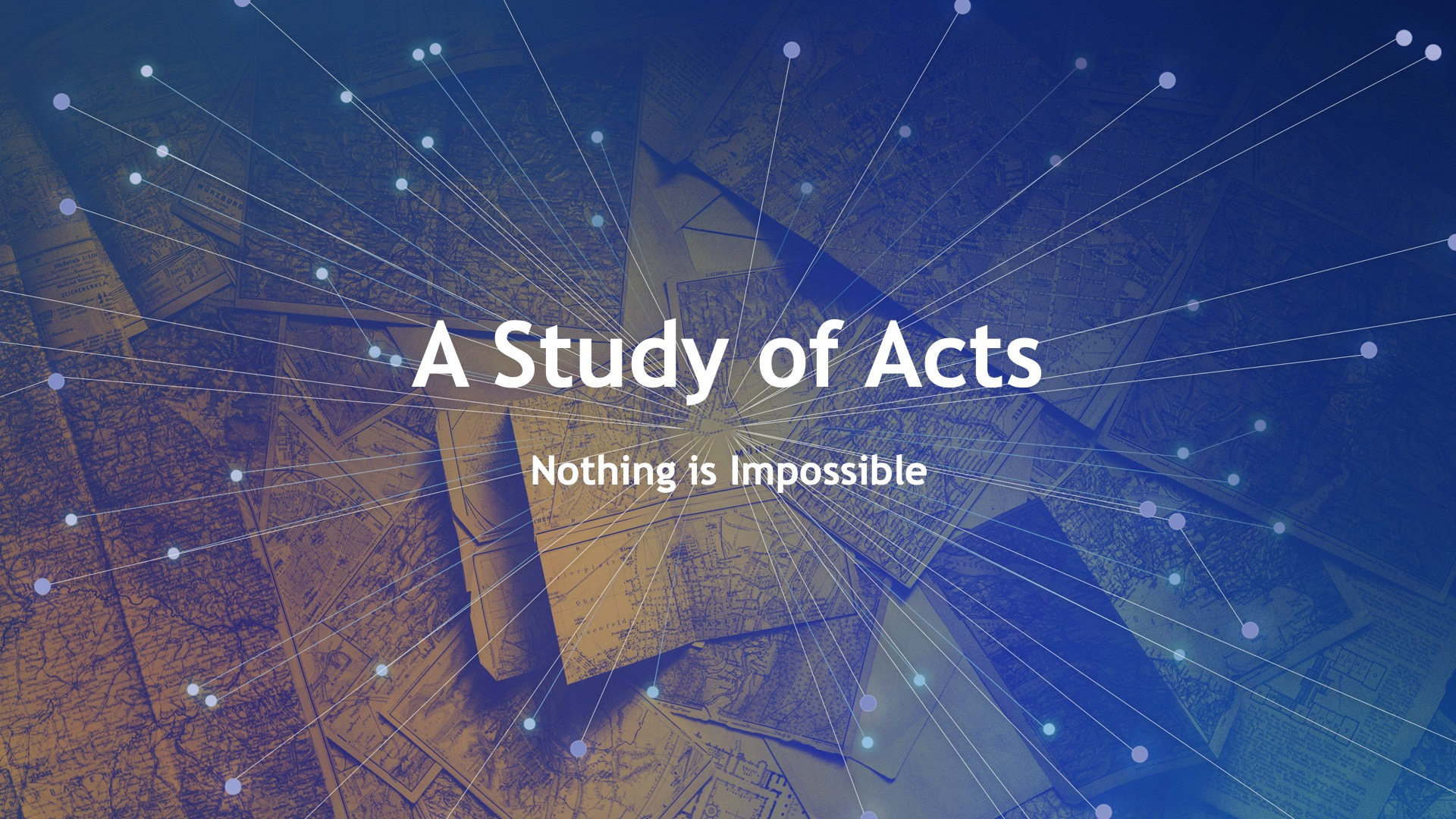 A Study of Acts Nothing is Impossible