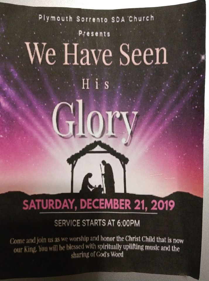 We Have Seen His Glory  Christmas Program