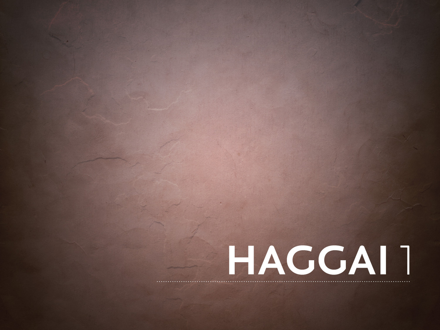Haggai  God Says