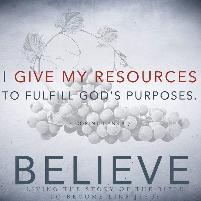 Believe Chapter 19 Offering Our Resources