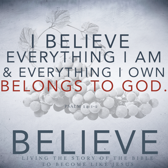 Believe, Chapter 9: Stewardship