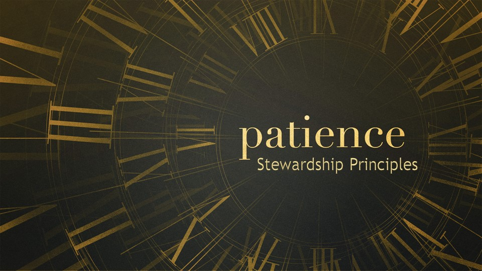 Patience  Stewardship Principles