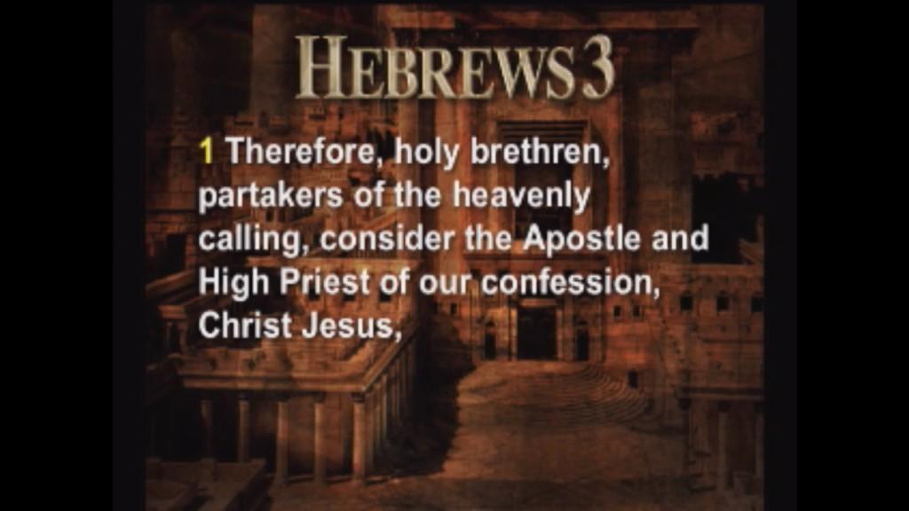 Hebrews 3:1-12