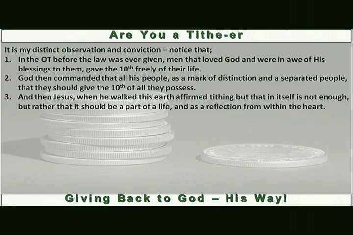 Are You a Titheer Giving Back to GodHis Way