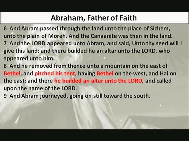 Abraham  Father of Faith