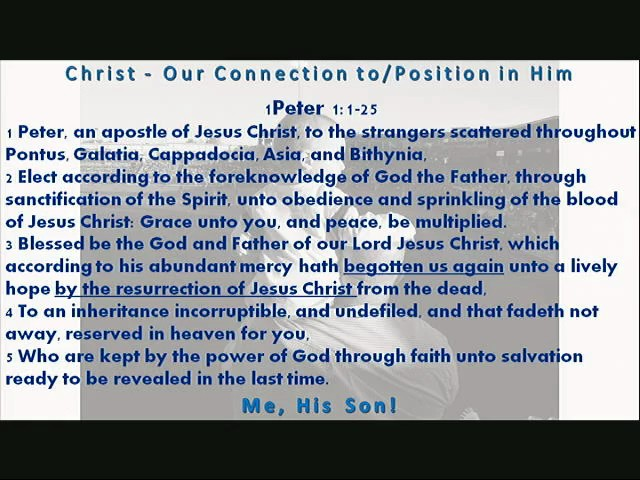 Christ Our Connection toPosition in Him pt6