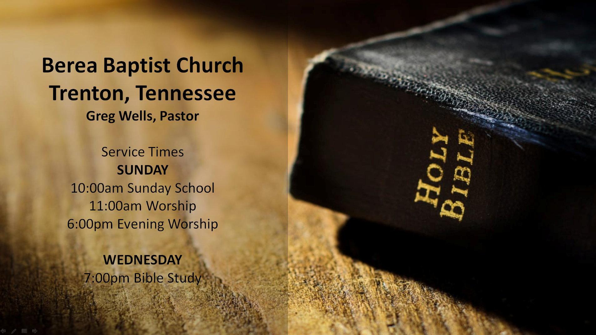 Berea Baptist Church of Trenton, TN
