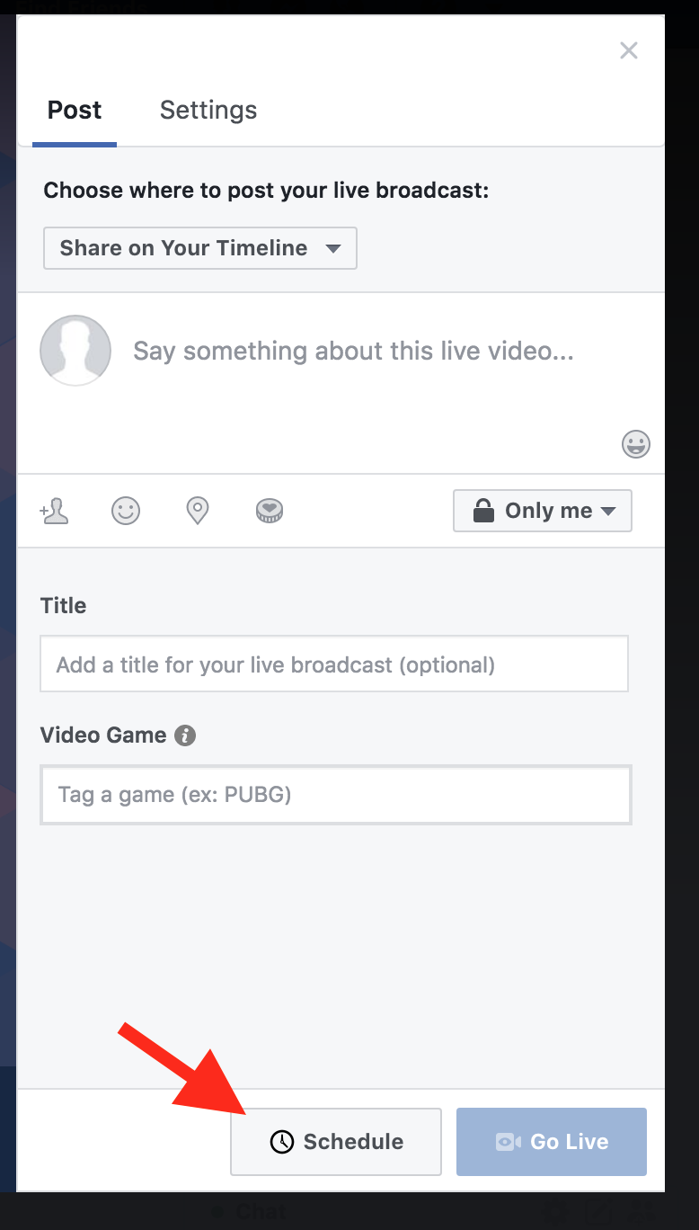 Facebook Live: Auto-starting using a Persistent Stream Key