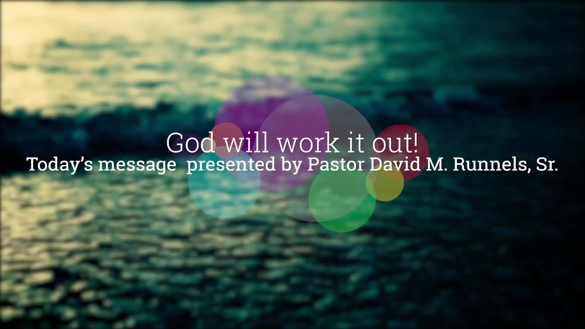 God will work it out