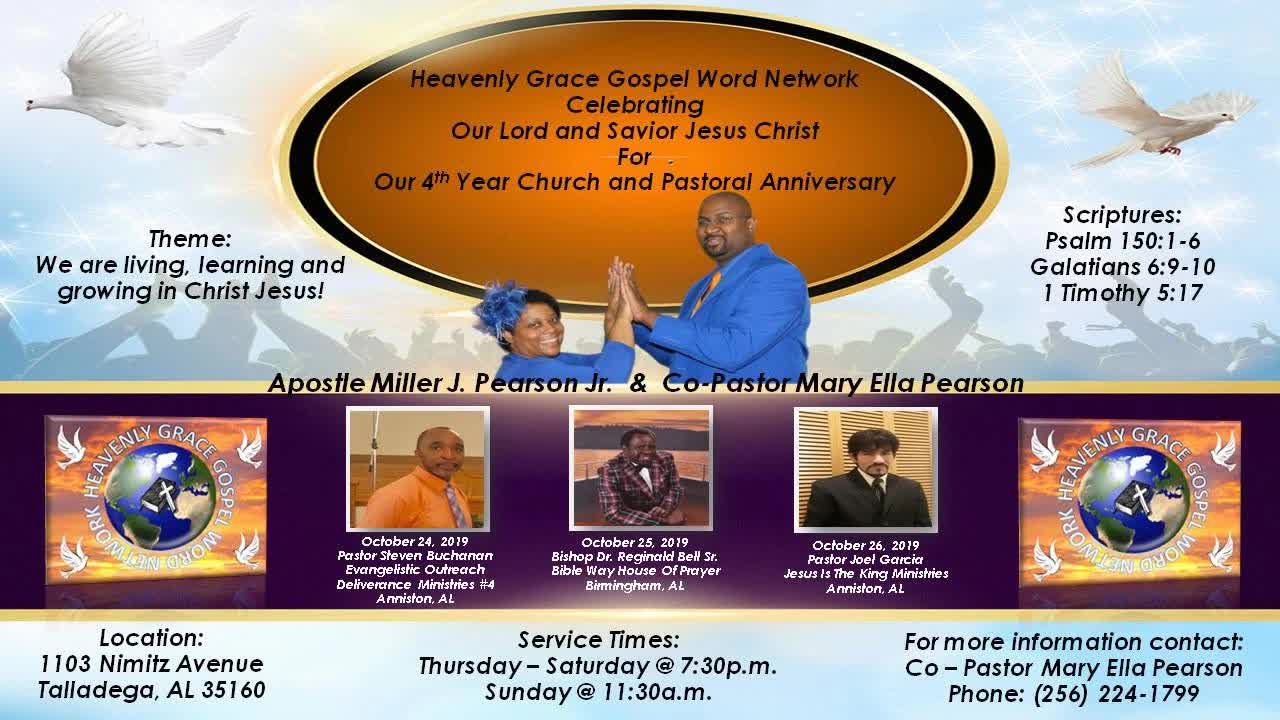 HGGWN 4th Year Church  Pastoral Anniversary