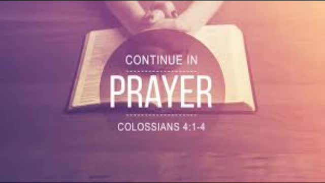 Continue in Prayer