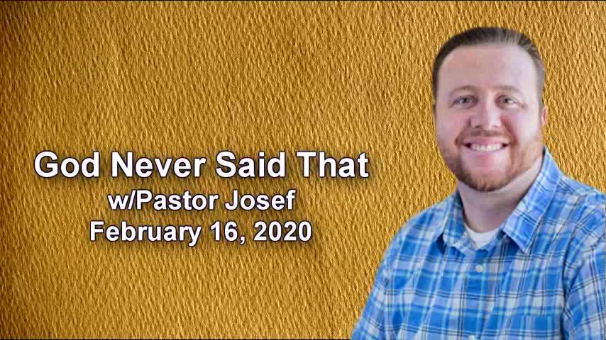 God  Never Said That, 2