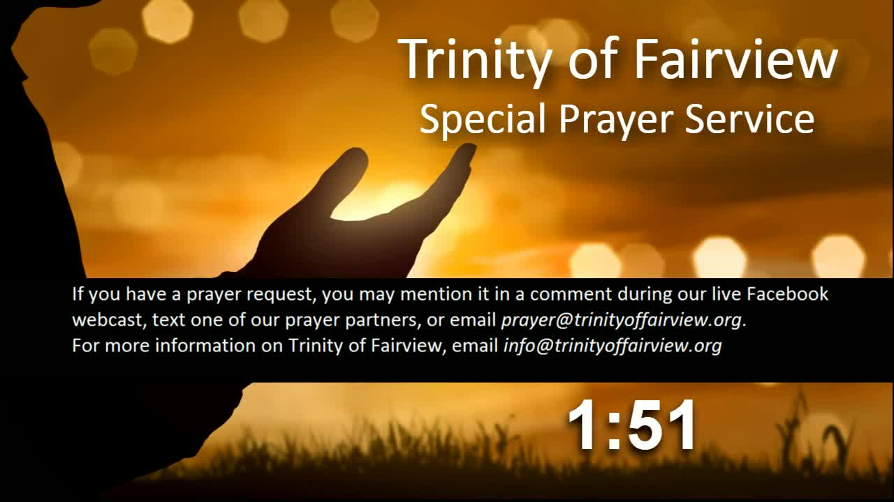 Special Prayer Service 7 PM