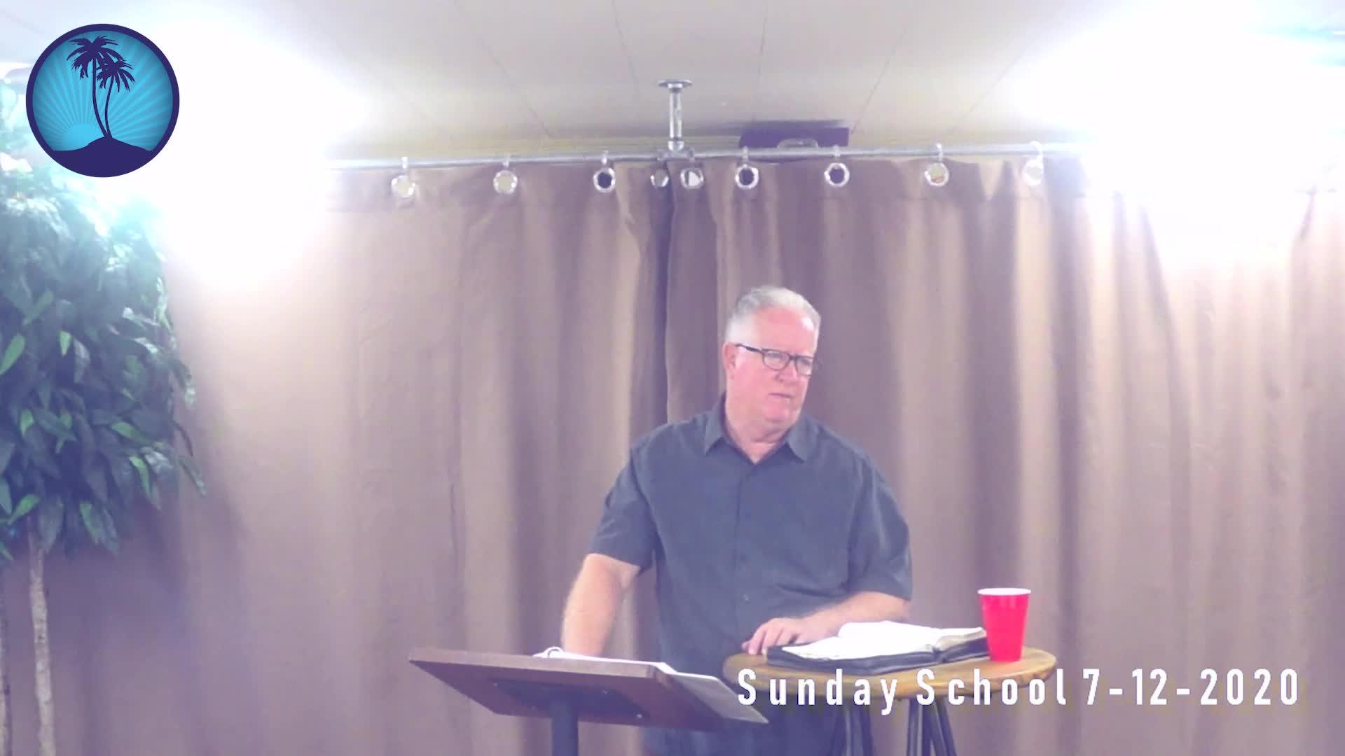 Sunday School 1st Service 7-12