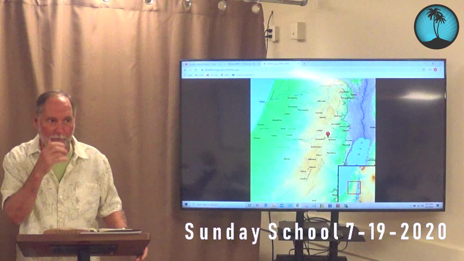 Sunday School First Service p8-2-2020