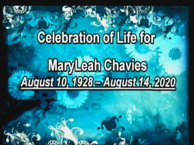 Mary Leah Chavies Funeral 8282020 10 AM