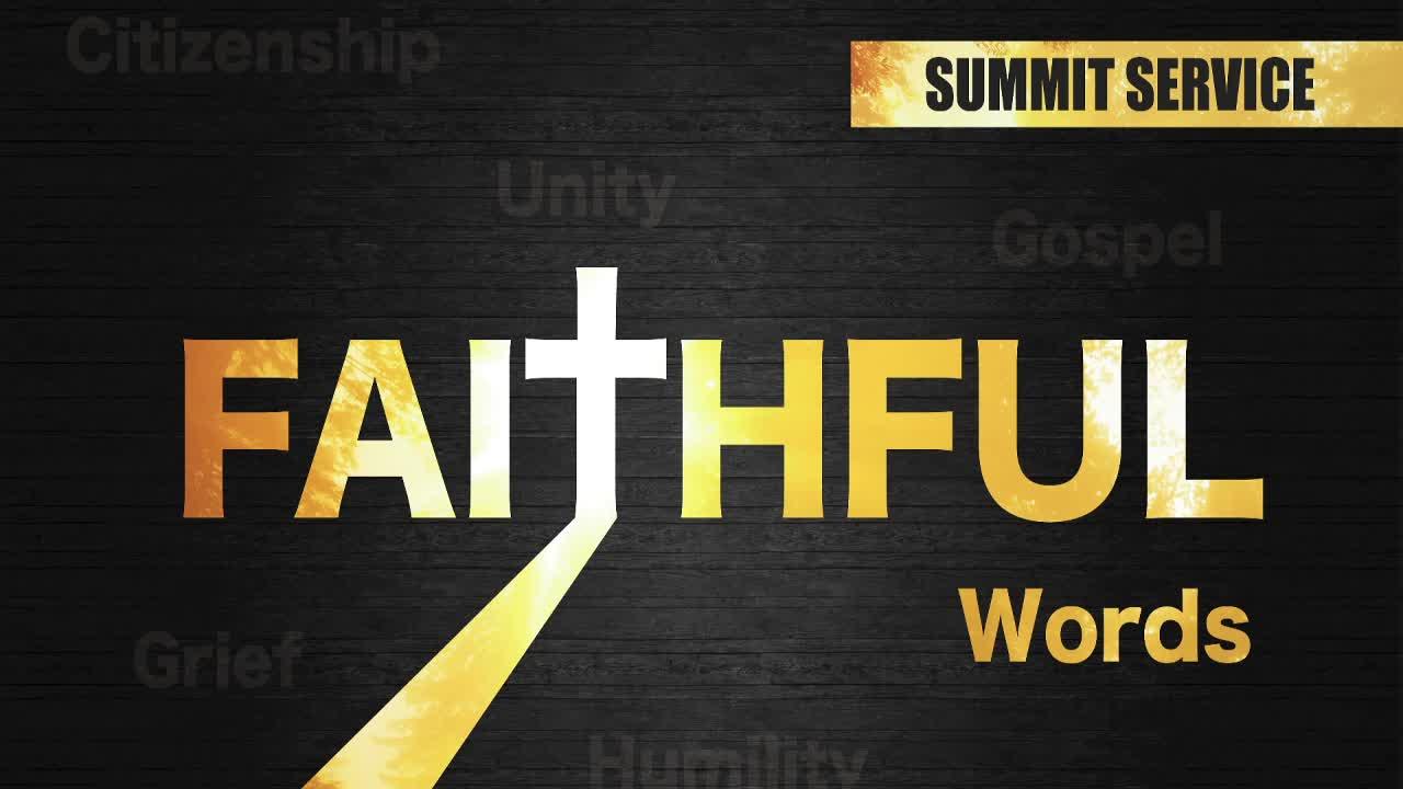 Faithful - Words