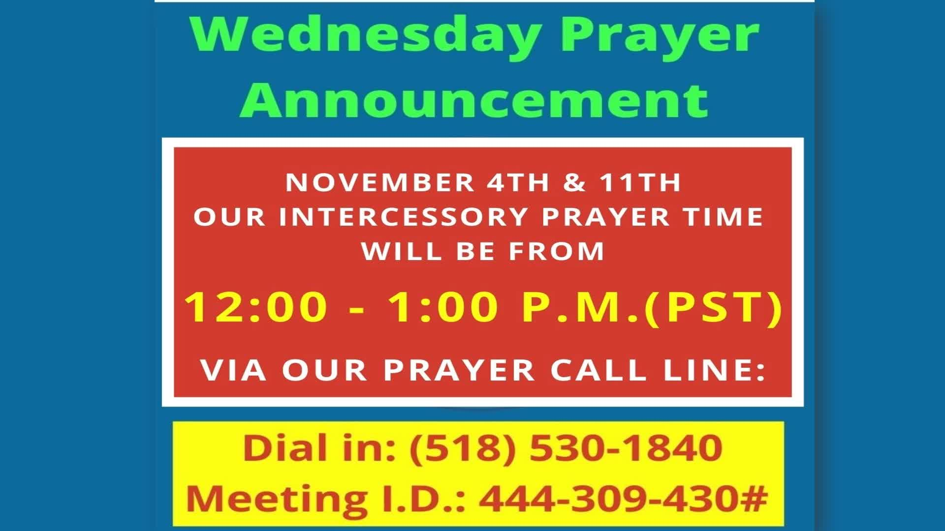 Weekly Announcements 11092020