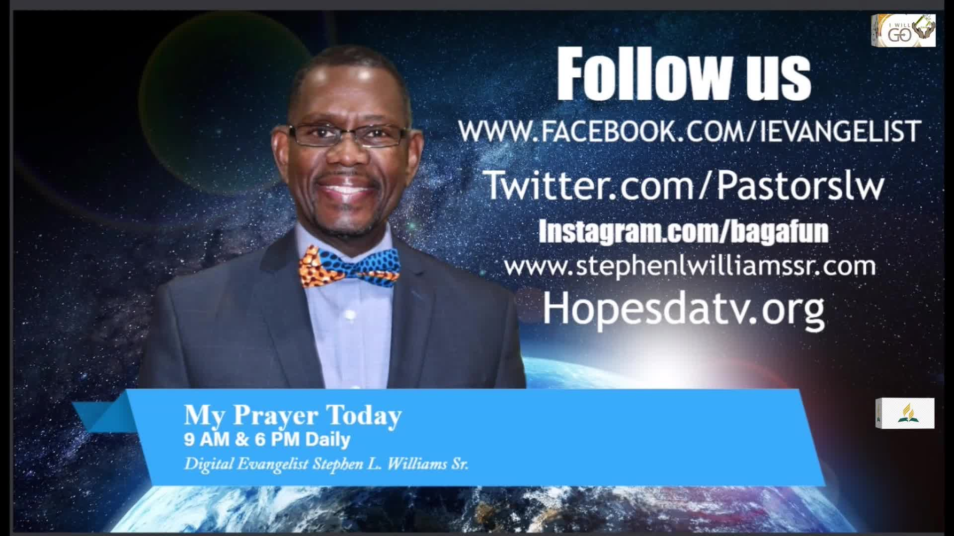 My Prayer Today Dr Stephen Williams