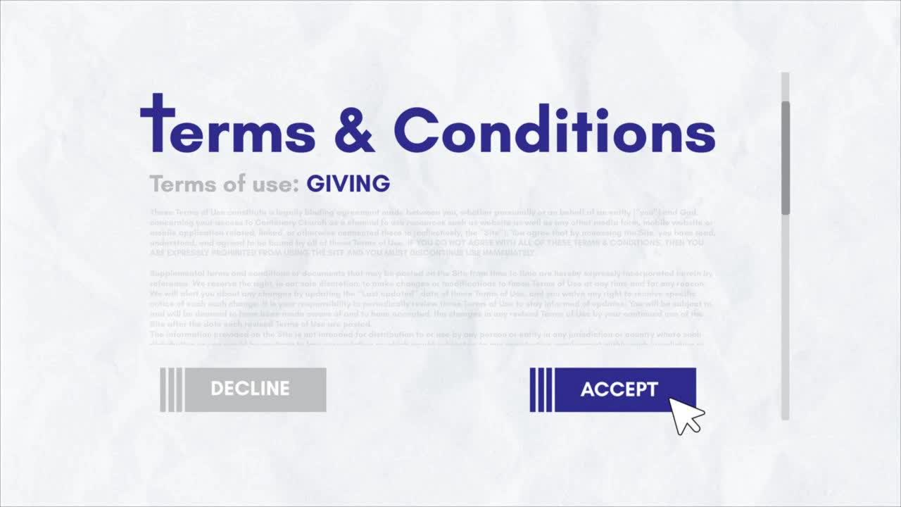Terms  Conditions Giving