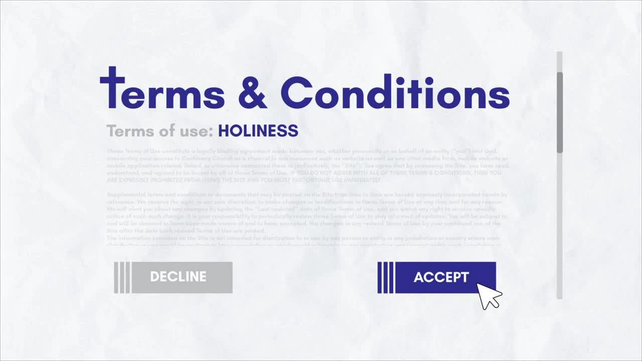 Terms  Conditions Holiness