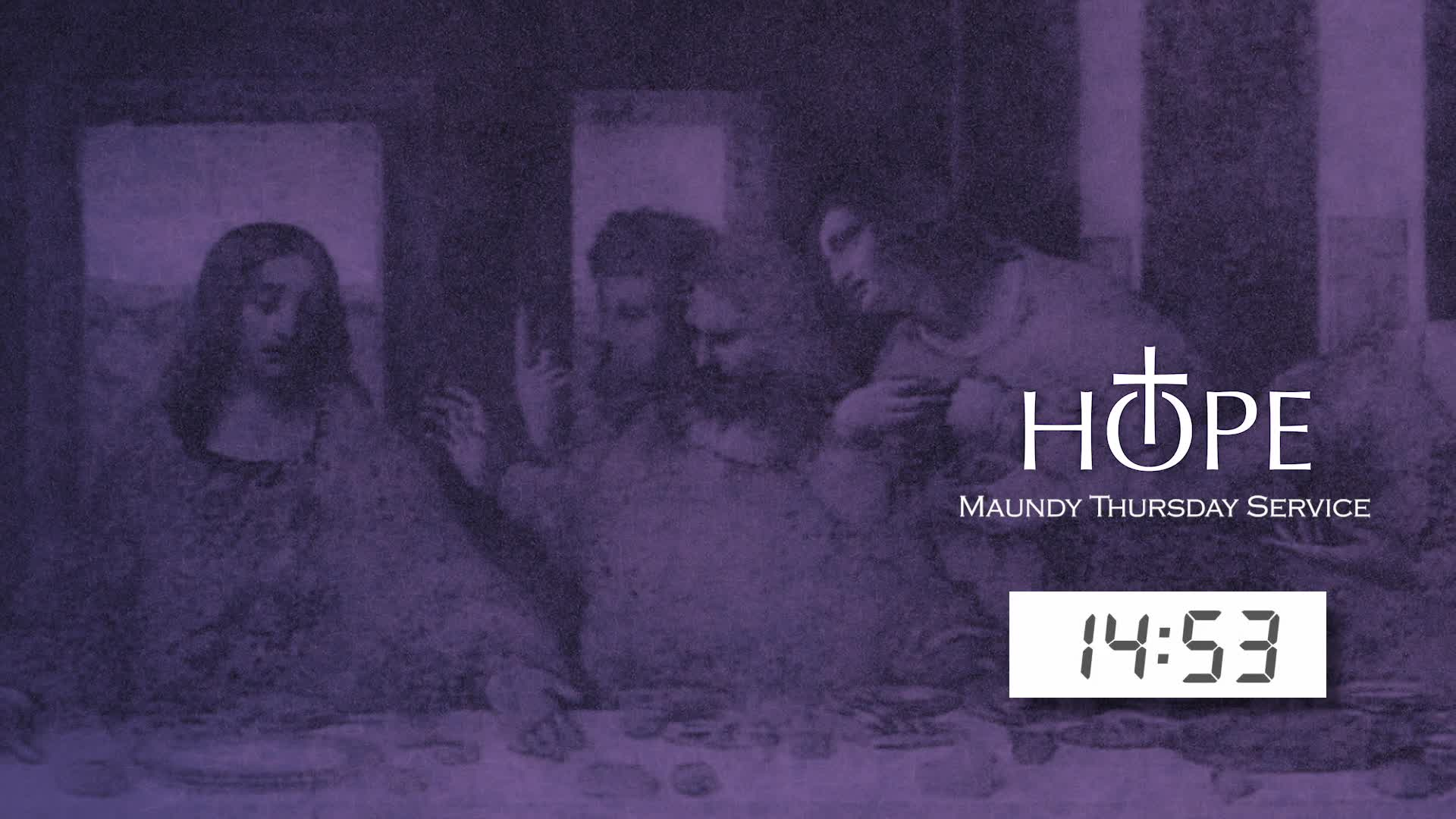 Maundy Thursday 2021 with Living Last Supper