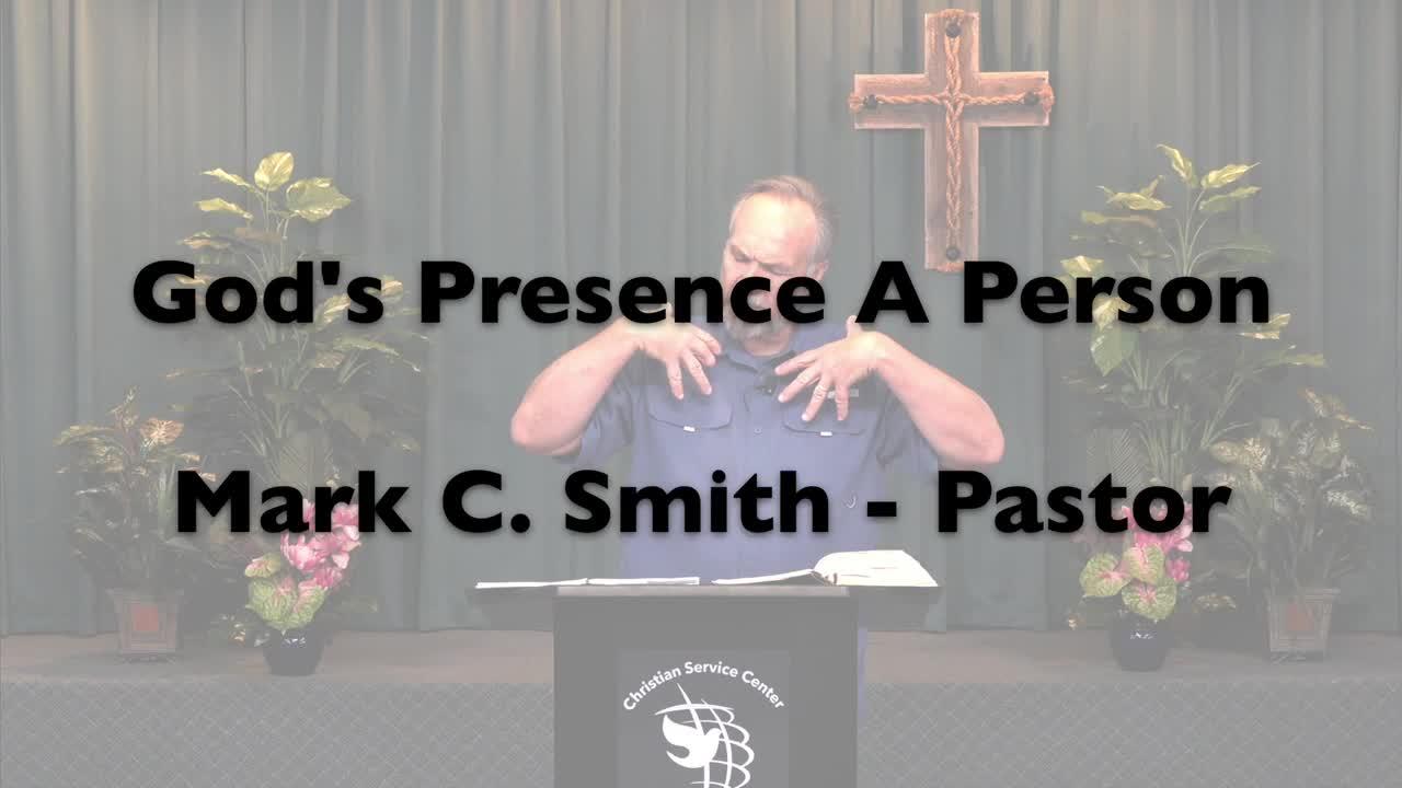 God's Presence A Person
