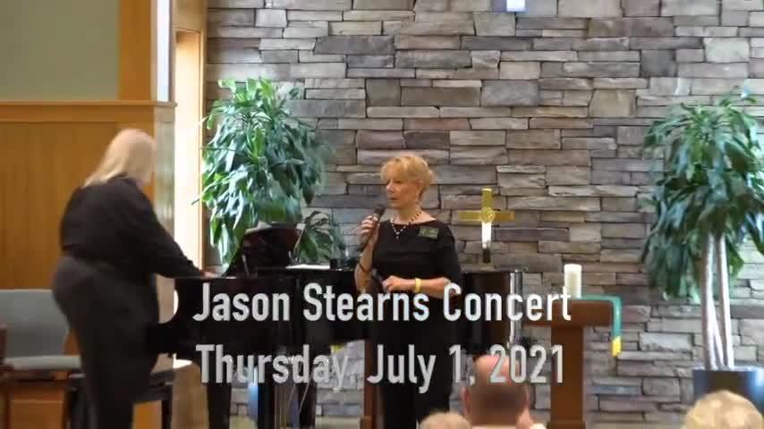 Jason Stearns Concert July 1, 2021
