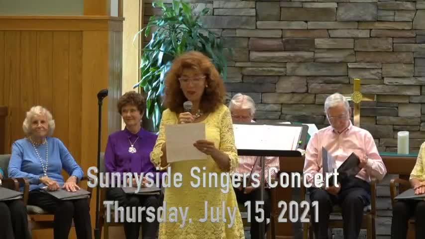 Sunnyside Singers Concert 210715
