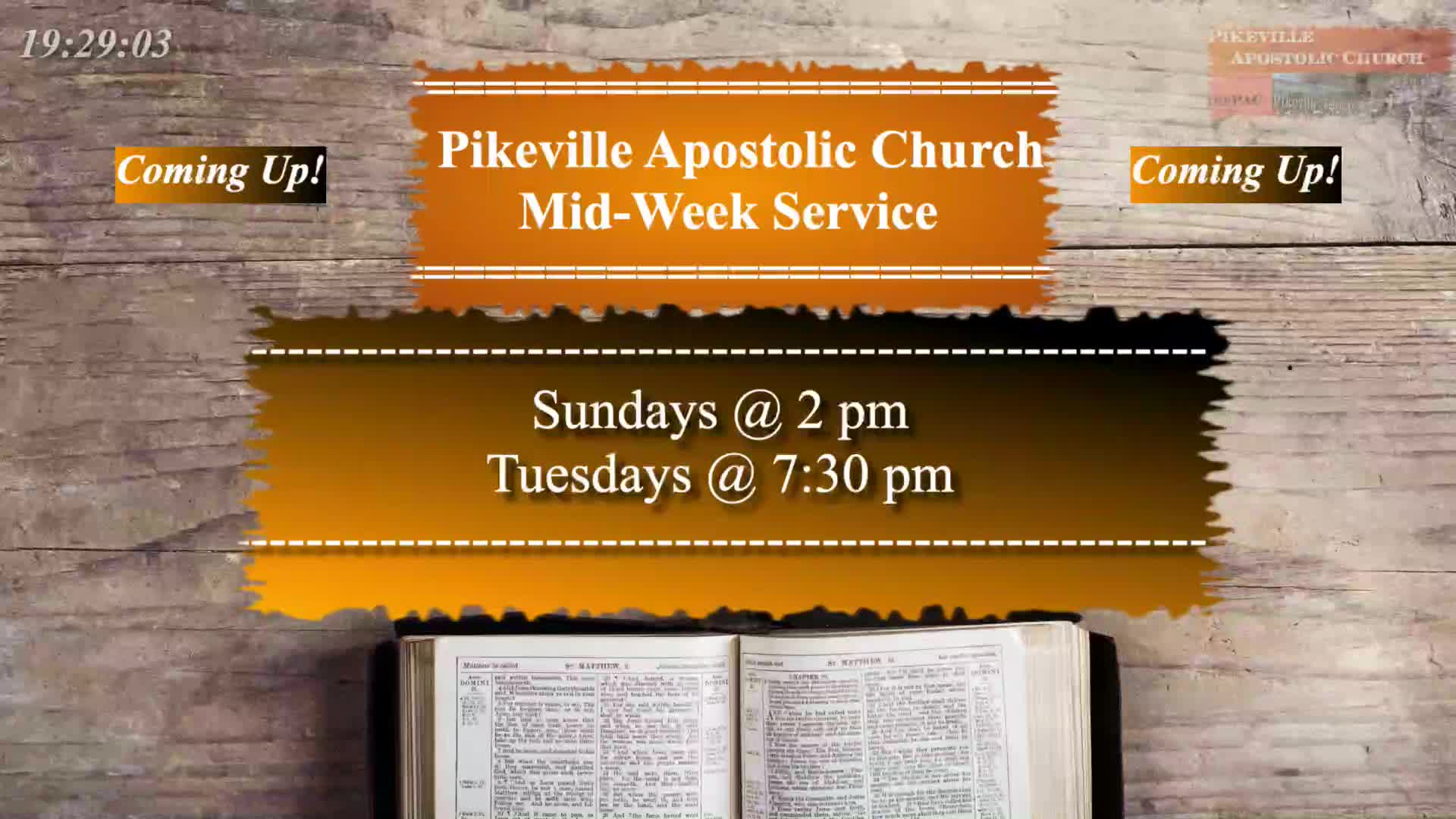 PAC Tuesday Evening Bible Study