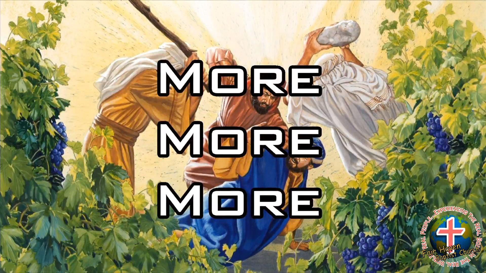 More, More, More